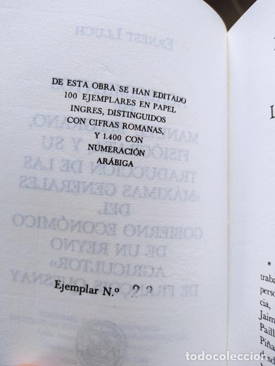 Libros de segunda mano: Acaecimientos de Manuel Belgrano, fisiocrata. F. Quesnay, ed. Cultura hispanica, 1984. Facsimil - Foto 4 - 232426915
