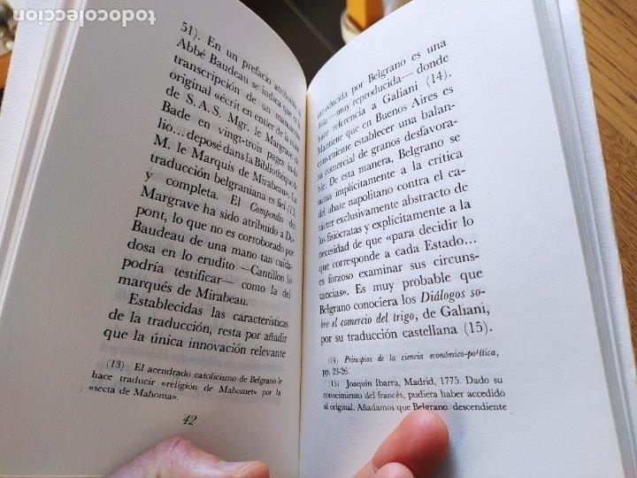 Libros de segunda mano: Acaecimientos de Manuel Belgrano, fisiocrata. F. Quesnay, ed. Cultura hispanica, 1984. Facsimil - Foto 5 - 232426915