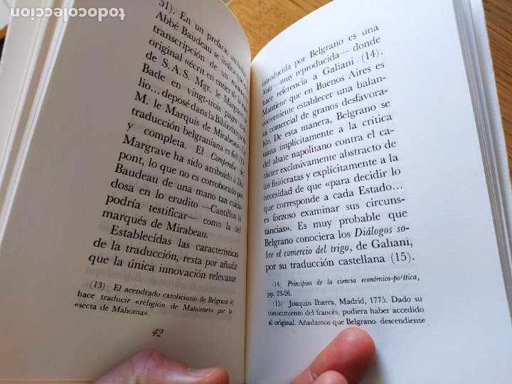 Libros de segunda mano: Acaecimientos de Manuel Belgrano, fisiocrata. F. Quesnay, ed. Cultura hispanica, 1984. Facsimil - Foto 6 - 232426915