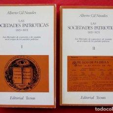 Libros de segunda mano: LAS SOCIEDADES PATRIOTICAS (1820 - 1823 ). ED. TECNOS. ALBERTO BIL NOVALES. AÑO: 1975. BUEN ESTADO.. Lote 232446165