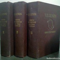 Libros de segunda mano: OBRAS ESCOGIDAS EN TRES TOMOS. V.I. LENIN EN 3 TOMOS AÑO 1966. Lote 233102705