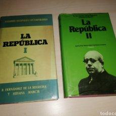 Libros de segunda mano: LA REPÚBLICA I Y II. Lote 234947695