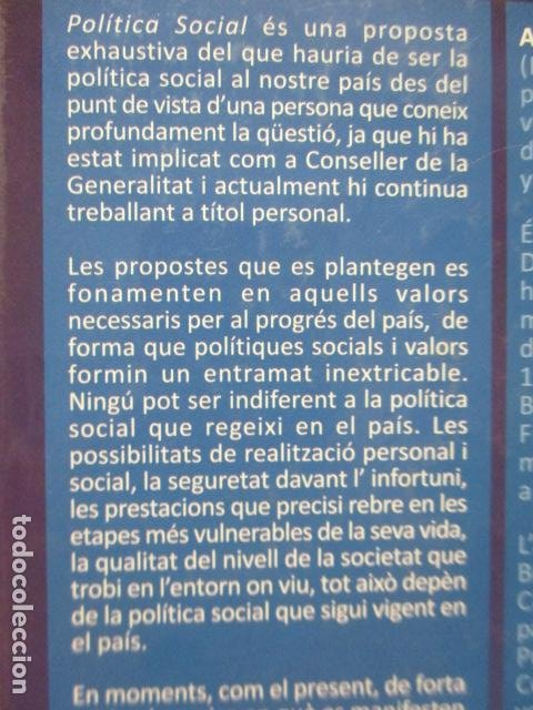 Libros de segunda mano: POLITICA SOCIAL - ANTONI COMAS - DEDICADO Y FIRMADO POR EL AUTOR - COMO NUEVO - Foto 11 - 235200700