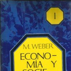 Libros de segunda mano: ECONOMIA Y SOCIEDAD I Y II. PUBLICADO EN 1969 - M.WEBER. Lote 235483735