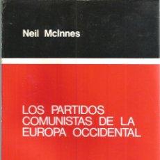 Libros de segunda mano: LOS PARTIDOS COMUNISTAS DE LA EUROPA OCCIDENTAL. PUBLICADO EN 1977 - NEIL MCLNNES. Lote 235938655