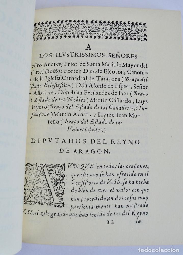 Libros de segunda mano: Gerónimo Martel. Forma de Celebrar Cortes en Aragón. Edición Facsímil. Cortes de Aragón 1984 - Foto 7 - 236353805
