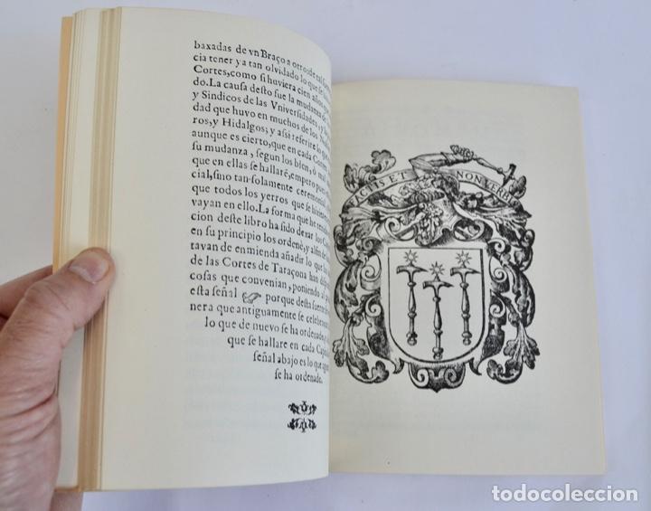 Libros de segunda mano: Gerónimo Martel. Forma de Celebrar Cortes en Aragón. Edición Facsímil. Cortes de Aragón 1984 - Foto 9 - 236353805