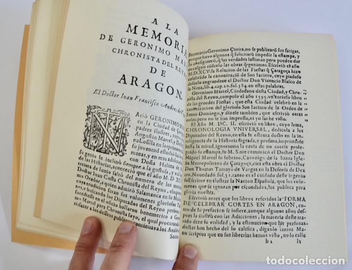 Libros de segunda mano: Gerónimo Martel. Forma de Celebrar Cortes en Aragón. Edición Facsímil. Cortes de Aragón 1984 - Foto 10 - 236353805