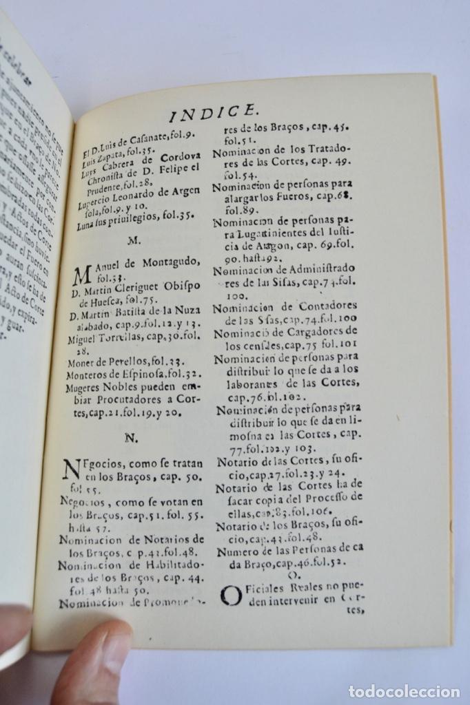 Libros de segunda mano: Gerónimo Martel. Forma de Celebrar Cortes en Aragón. Edición Facsímil. Cortes de Aragón 1984 - Foto 11 - 236353805