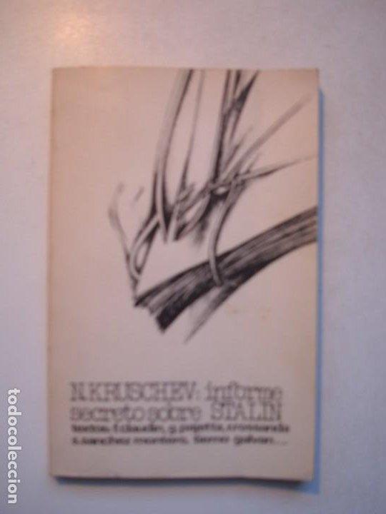 INFORME SECRETO SOBRE STALIN (AL XX CONGRESO DEL PCUS) - NIKITA KRUSCHEV - 1977 TALLER DE SOCIOLOGÍA (Libros de Segunda Mano - Pensamiento - Política)