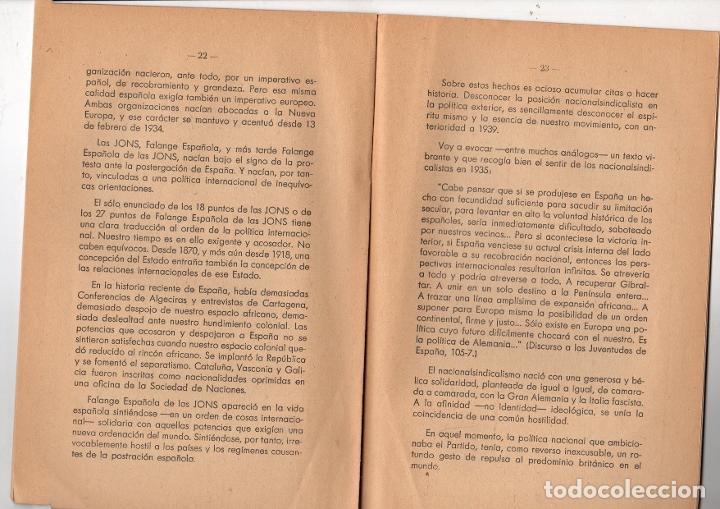 Libros de segunda mano: IDEA DEL IMPERIO. SANTIAGO MONTERO DIAZ. POLITICA NACIONAL Y POLITICA INTERNACIONAL. FRANQUISMO 1943 - Foto 3 - 236359480