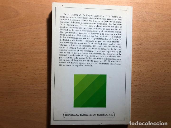 Libros de segunda mano: Jean Paul Sartre: Crítica de la razón dialéctica y cuestión método. Juan José Sanguineti. - Foto 2 - 236447155