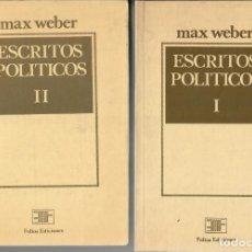 Libros de segunda mano: ESCRITOS POLÍTICOS / MAX WEBER (2 VOL.). Lote 236516520