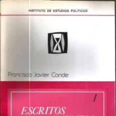 Libri di seconda mano: ESCRITOS Y FRAGMENTOS POLITICOS I Y II. PUBLICADO EN 1974 - FRANCISCO JAVIER CONDE. Lote 236803645