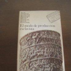 Libros de segunda mano: VARIOS - EL MODO DE PRODUCCIÓN ESCLAVISTA. AKAL 1987. Lote 236901945