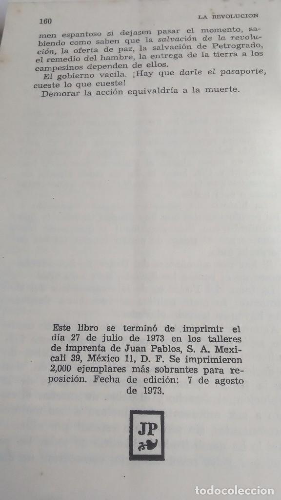 Libros de segunda mano: Lenin. La Revolución Rusa. 1973. Primera edición. Editorial Roca. México. - Foto 7 - 236915620
