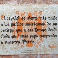Libros de segunda mano: CARTEL FRASE QUINCENAL 1948.. Lote 236932600