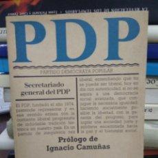 Libros de segunda mano: PARTIDO DEMÓCRATA POPULAR Nº 10. L.24027. Lote 243890695