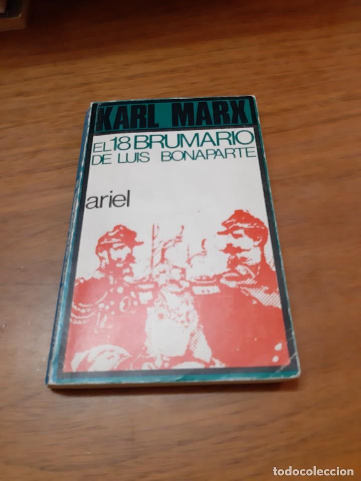 MARX KARL, EL 18 BRUMARIO DE LUIS BONAPARTE, ARIEL, BARCELONA, 1971 (Libros de Segunda Mano - Pensamiento - Política)