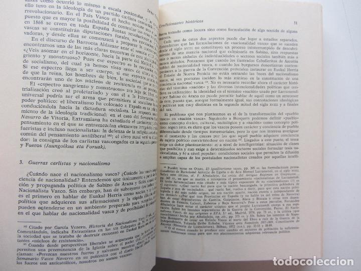 Libros de segunda mano: ORÍGENES, IDEOLOGÍA Y ORGANIZACIÓN DEL NACIONALISMO VASCO 1876-1904. JAVIER CORCUERA ATIENZA 1979 - Foto 5 - 246724460