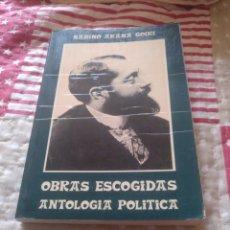 Libros de segunda mano: SABINO ARANA. OBRAS ESCOGIDAS. HARÁNBURU 1978. Lote 252274415