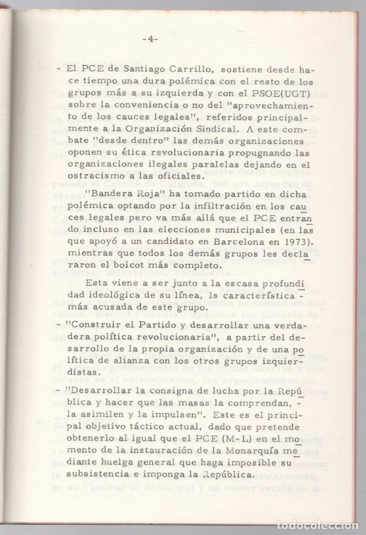 Libros de segunda mano: ORGANIZACION COMUNISTA DE ESPAÑA. BANDERA ROJA (B.R.). GRUPOS SUBVERSIVOS CLANDESTINOS. 4. 1974 - Foto 3 - 253488155