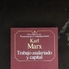 Libros de segunda mano: TRABAJO ASALARIADO Y CAPITAL - KARL MARX. Lote 253868180