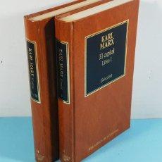 Livres d'occasion: EL CAPITAL, KARL MARX, DOS TOMOS, ORBIS, BIBLIOTECA DE ECONOMIA 1984 (LIBROS I, II Y III SELECCION). Lote 253880615