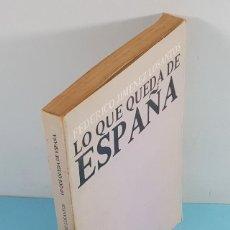 Libros de segunda mano: LO QUE QUEDA DE ESPAÑA, FEDERICO JIMENEZ LOSANTOS, 2ª EDICION ALCRUDO EDITOR ZARAGOZA 1979 221 PAG. Lote 254972690