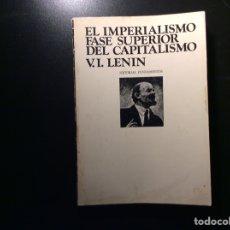 Libros de segunda mano: EL IMPERIALISMO FASE SUPERIOR DEL CAPITALISMO.V.I.LENIN. Lote 256087430