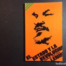 Libros de segunda mano: EL ESTADO Y LA REVOLUCION. V.I. LENIN. Lote 260441540
