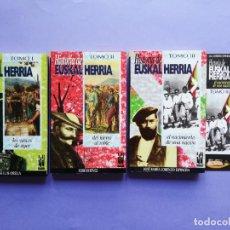 Livros em segunda mão: HISTORIA DE EUSKAL HERRIA 3 TOMOS VVAA 1996 TXALAPARTA + 2 MARCAPÁGINAS. Lote 260848120