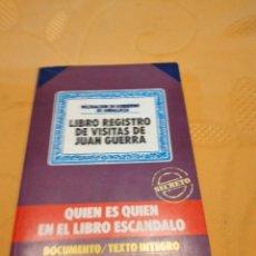 Libros de segunda mano: M-29 LIBRO QUIÉN ES QUIÉN EN EL LIBRO-REGISTRO DE VISITAS DE JUAN GUERRA.- SÁNCHEZ SOLER, MARIANO. Lote 261073145
