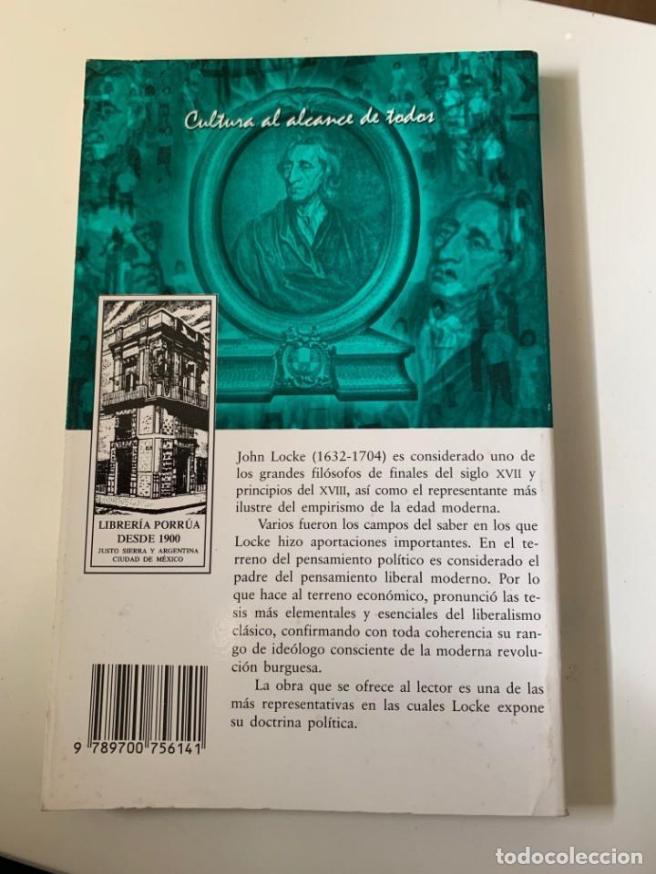 Libros de segunda mano: LOCKE, JOHN - ENSAYO SOBRE EL GOBIERNO CIVIL - Editorial Porrua - Foto 2 - 262120410