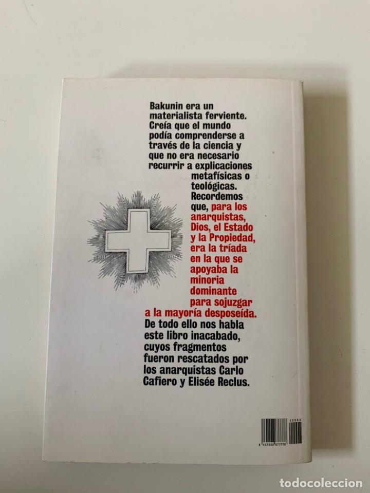Libros de segunda mano: Dios y el estado - Mijail Bakunin- Diario Público - Barcelona 2009 - Foto 3 - 262126485
