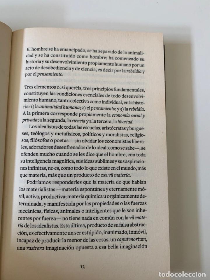 Libros de segunda mano: Dios y el estado - Mijail Bakunin- Diario Público - Barcelona 2009 - Foto 6 - 262126485