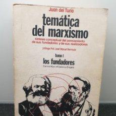 Libros de segunda mano: TEMÁTICA DEL MARXISMO TOMO 1 LOS FUNDADORES CARLOS MARX FEDERICO ENGLES. JUAN DEL TURIA(ENVÍO 4,31€). Lote 262070390