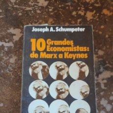Libros de segunda mano: 10 GRANDES ECONOMISTAS: DE MARX A KEYNES (ALIANZA EDITORIAL). Lote 262403110