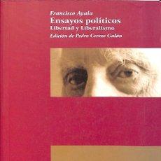 Libros de segunda mano: ENSAYOS POLÍTICOS. Lote 262677220
