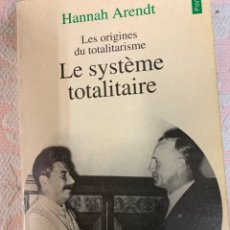 Libros de segunda mano: LE SISTEME TOTALITAIRE, HANNAH ARENDT. Lote 262956595