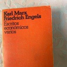 Libros de segunda mano: ENGELS Y MARX ESCRITOS ECONÓMICOS VARIOS. Lote 263559270