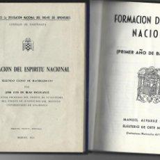 Libros de segunda mano: FORMACIÓN DEL ESPÍRITU NACIONAL PARA BACHILLERATO, 2 CURSOS , MARISTAS AÑO 1955. Lote 263566840