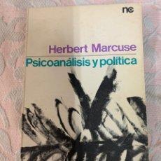 Libros de segunda mano: PSICOANÁLISIS Y POLÍTICA, MARCUSE. Lote 263657545