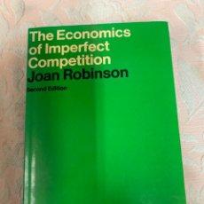 Libros de segunda mano: JOAN ROBINSON, DE ECONOMIC OF IMPERFECT COMPETITION. Lote 263665140