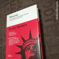Libros de segunda mano: BERNIE SANDERS, DISCURSO. Lote 265863519