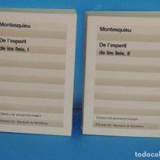 Livres d'occasion: DE L'ESPERIT DE LES LLEIS.- MONTESQUIEU ( 2VOL. OBRE COMPLETA). Lote 267366054