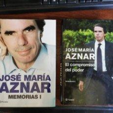 Libros de segunda mano: MEMORIAS I / EL COMPROMISO DEL PODER. MEMORIAS II. JOSÉ MARÍA AZNAR. 1ª EDICIÓN. PLANETA. Lote 267750029