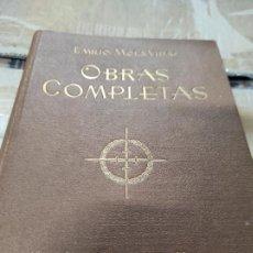 Libros de segunda mano: OBRAS COMPLETAS. EMILIO MOLA VIDAL. LIBRERÍA SANTARÉN. VALLADOLID,. Lote 269005329