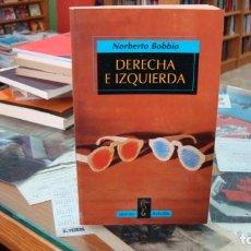 Libros de segunda mano: NORBERTO BOBBIO. DERECHA E IZQUIERDA. ED, TAURUS. Lote 269944203