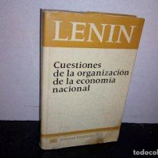 Libros de segunda mano: 35- LENIN, CUESTIONES DE LA ORGANIZACIÓN DE LA ECONOMÍA NACIONAL. Lote 270566848